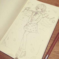 #Dessin crayon par #Lunaticjoker #Manga