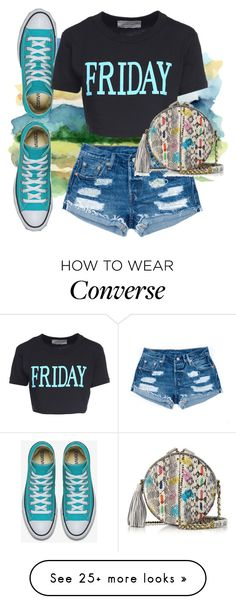 """Happy Friday everyone! Let's Converse! "" by tgtigerlily on Polyvore featuring Alberta Ferretti and Jérôme Dreyfuss"