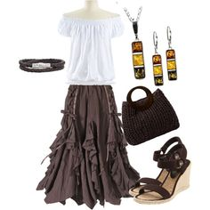 """""""Plus size skirt and wedges"""" LOVE !!!!!"""