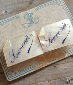 Mother of Pearl-Souvenir-Cufflinks in the shop-FleaingFrance Brocante Society