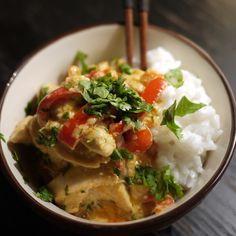 Curry rosso di pollo e riso thai al cocco by alessia vicari puntarella rossa