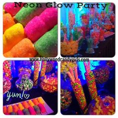 """neon party ideas   ... """"Neon Glow Party Glow In The Dark Themes""""   Hollywood Candy Girls"""