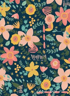 sarah york presents! Illustration Photo, Illustrations, Pattern Illustration, Textile Patterns, Flower Patterns, Print Patterns, Textiles, Flower Pattern Design, Motif Floral