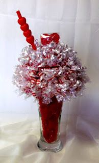 Candy bouquets as game prizes