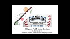 Welcome to Top Prospects & ETTS all sports fall training sessions. Our annual fall training sessions starts on October and meet 2 times a week. Softball Pitching Machine, Baseball Pitching, Baseball Training, Sports Training, Agility Training, Basketball Goals, Training Center, Top Prospects