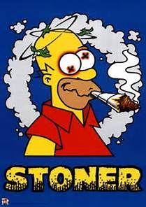 Cartoon characters smoking weed