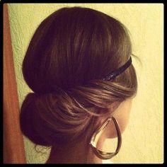 Greek hairstyle with headband