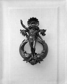 Door Knocker, Metal, Old, Entrance