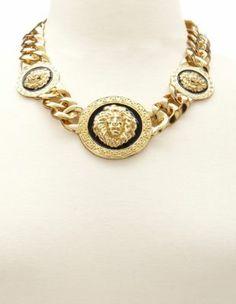 Lion Head Chain Link Necklace