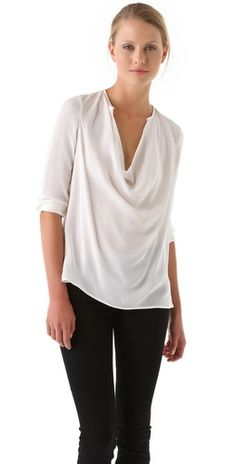 Vince Cowl Blouse - not sure how it'd drape on me but looks lovely on the model.