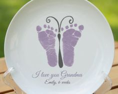 Simple Prints Handprint Circle Ornament 705B_rn von MyForeverPrints