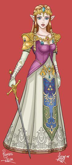 The Legend of Zelda: Twilight Princess, Princess Zelda / Princess Zelda by bratchny on deviantART
