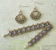 Linda's Crafty Inspirations: Bracelet of the Day: Esther Silky Bracelet - Lila Vega