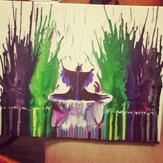 Melted crayon art! With Maleficent my favorite Disney Villain!
