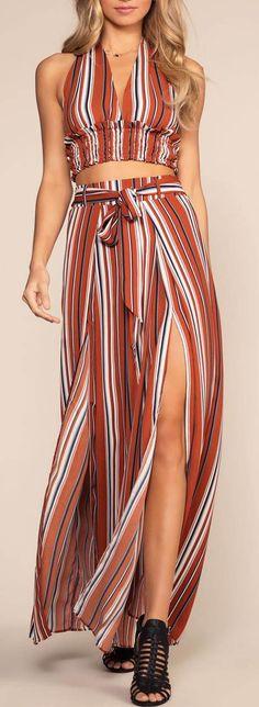 Kira Striped Pants