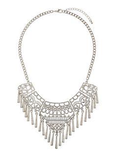 Halskette aus Segmenten mit Cutouts