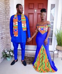 We Love Ghana Weddings💑💍 ( African Wedding Attire, African Attire, African Dress, Ghana Wedding Dress, Ghana Traditional Wedding, African Traditional Wedding Dress, Traditional African Clothing, Couples African Outfits, Couple Outfits