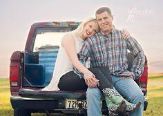Engagement Photos -  Rustic  -  barn  -  truck  - boots  KelleyCraigphotography.com