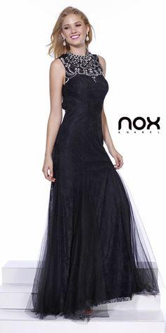 Black Tie Formal Lace Gown Mermaid Flair Skirt Sleeveless