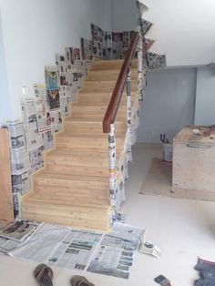 Bamboo stairs on progress