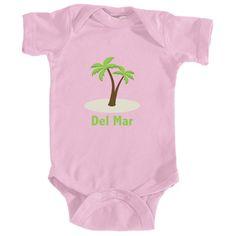 Del Mar, California Palm Tree - Infant Onesie/Bodysuit