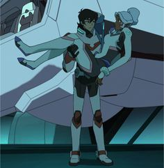 Keith carrying Princess Allura in his arms from Voltron Legendary Defender