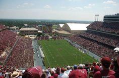 Texas A & M University Aggies football - inside Kyle Field lokking towards scoreboard