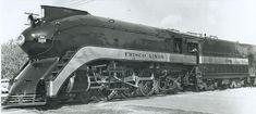 """St. Louis & San Francisco Railroad (Frisco) #1031.  """"Fire Fly"""".   Streamlined 4-6-2  locomotive.  Built by Baldwin 1910."""