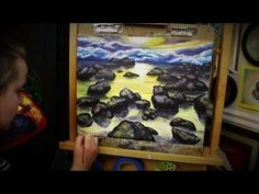 15:02  Acrylic Painting - Sunset Over the Stony Waters of Lake Tahoe (Sunset Pa...