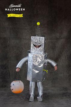 homemade halloween robot