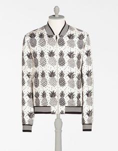 DOLCE & GABBANA Printed Silk Twill Bomber Jacket. #dolcegabbana #cloth #