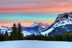 #Alpes, #SUIZA, #diciembre, #invierno, #montañas, #nubes, #bosque, #nieve, #cielo