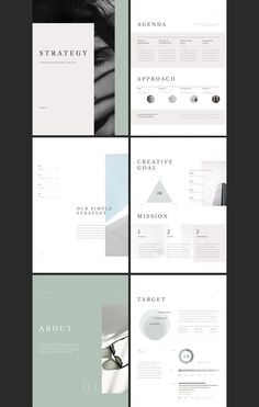 Strategy is a PowerPoint & Keynote template that's built to be printed. It comes in A4 sizes. now you can create a powerful and professional proposal or portfolio with a simple design. *ad #presentation #template #SimpleP Design Portfolio Layout, Page Layout Design, Architect Portfolio Design, Graphic Portfolio, Booklet Design, Brochure Design, Mise En Page Portfolio, Bussiness Card, Presentation Layout