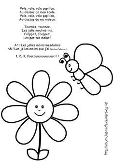Coloriage printemps (thème des papillons)