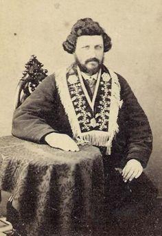 Historic 1860 MASONIC JUDGE RITUAL COLLAR Antique PHOTO CDV! Powdered Wig OCCULT   eBay