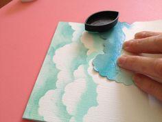 diy Ink clouds// #ad