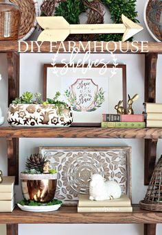 How to make your own DIY Farmhouse Shelves with wood and corbels. Sharing tips on sanding, staining and styling them to look like DIY Farmhouse Shelves Handmade Furniture, Diy Furniture, Country Decor, Farmhouse Decor, Farmhouse Style, Coastal Farmhouse, Cool Diy Projects, Wood Projects, Floral Watercolor