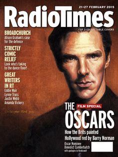Sherlock star Benedict Cumberbatch stars in three art-inspired Radio Times covers