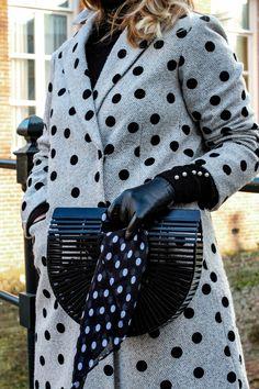 polka dots coat