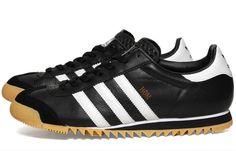 huge discount 9014a 2cfc8 New Mens Adidas Originals ROM Retro Fashion Traniners BlackWhiteGold