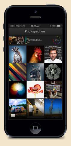 iPhone - uploading a set of photos