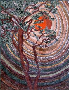 Sunset Mosaic Art
