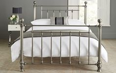 Leamington Bed Metal Pewter from Next