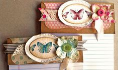 """Laura's Creative Moments: Just a note ... two shabby chic notebooks and one card ... Stampin' Up! """"Kindness Matters"""" 3d Paper Crafts, Scrapbook Paper Crafts, Arts And Crafts, Paper Crafting, Kindness Matters, Candy Cards, Scrapbooking, Butterfly Cards, Paper Cards"""
