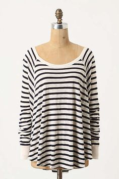 Anthropologie - Curved Stripes Dolman