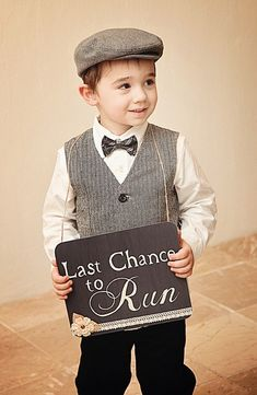 Last chance to run ring bearer wedding sign by VintageCreekStudio, $36.00