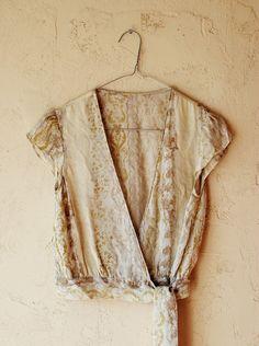 Baroque Silk Blouse from IngaGanskaja on Etsy
