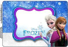 Marmita Frozen Azul e Branco: