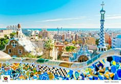 Parc Guell by Gaudi in Barcelona Barcelona Spain Travel, Barcelona City, Visit Barcelona, Barcelona Architecture, Barcelona Museum, Barcelona Tours, Spain Madrid, Spanish Architecture, Barcelona Hotels