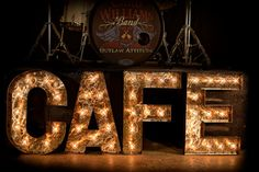CAFE Sign in Block Font Marquee Letter Marquee by TLNFunctionalArt, $540.00